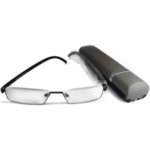 Готовые очки для чтения (полуободковые, в чехле)