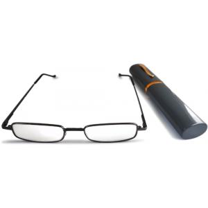 Готовые очки для чтения (металлическая оправа, в чехле)